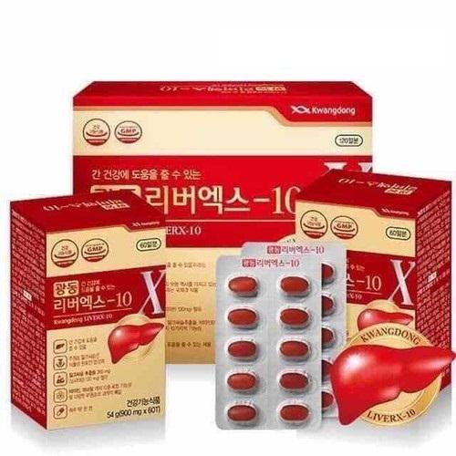 Bổ gan Kwangdong LiverX-10 hộp 120 viên