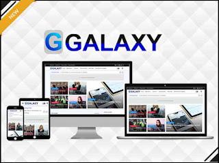 Galaxy Blogger template
