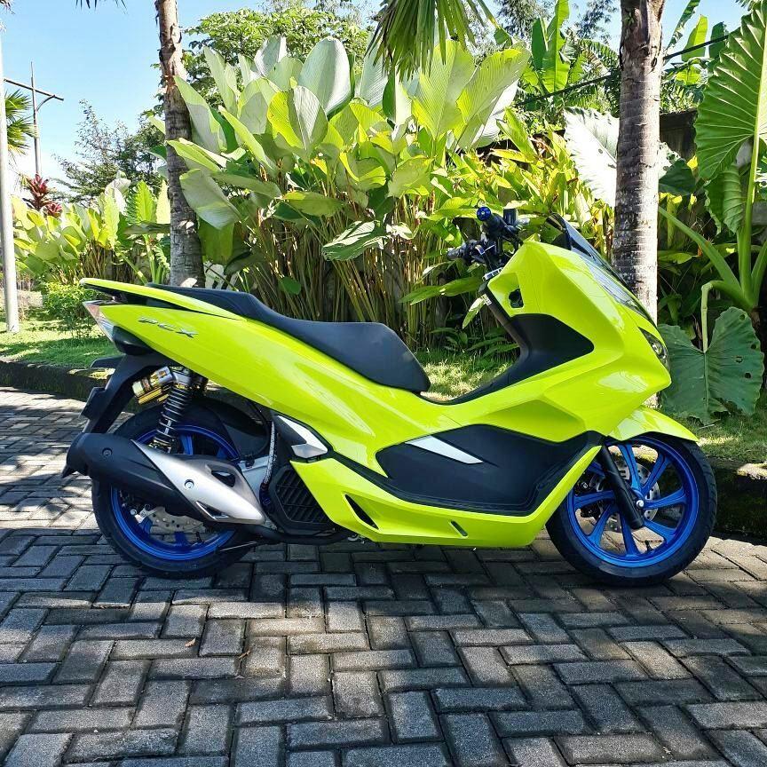 All New Honda Pcx Ini Dimodifikasi Dengan Warna Kuning Asli Keren