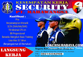 Kesempatan Kerja di PT. Mahawangsa Surabaya Terbaru Juni 2019