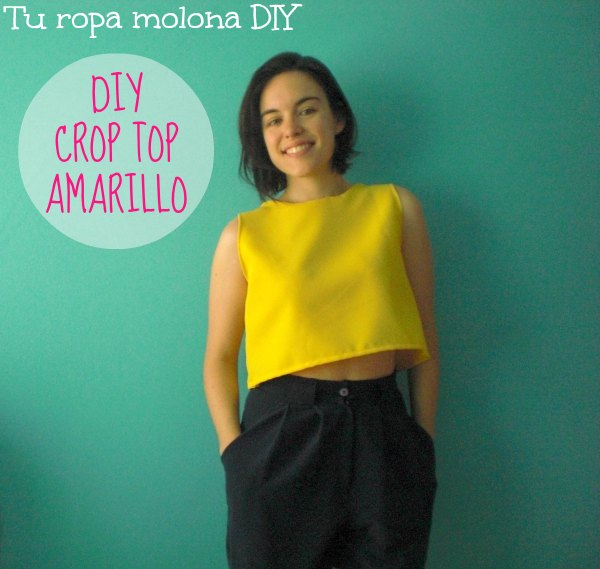DIY crop top amarillo