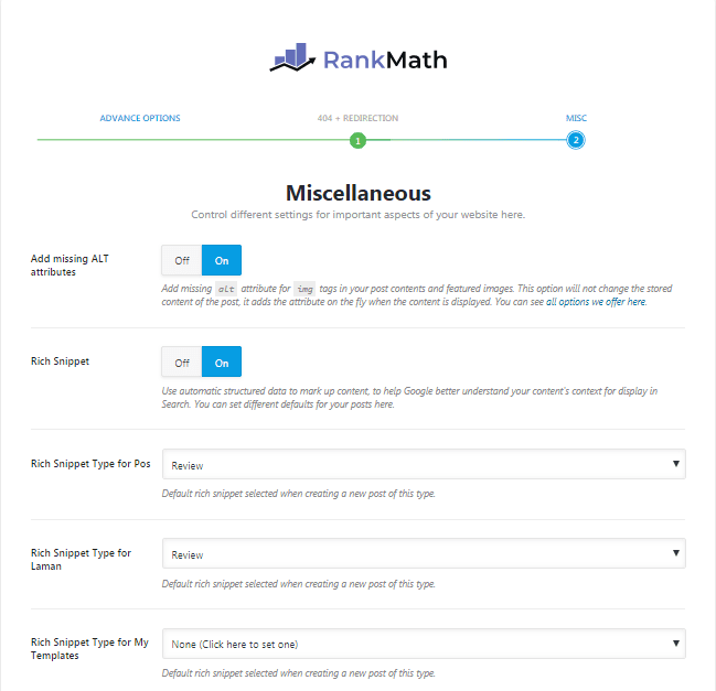 miscellaneous - rank math
