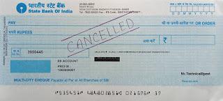 Cancelled cheque क्या है? कैंसिल चेक कैसे बनाएं, Cancelled cheque meaning in hindi