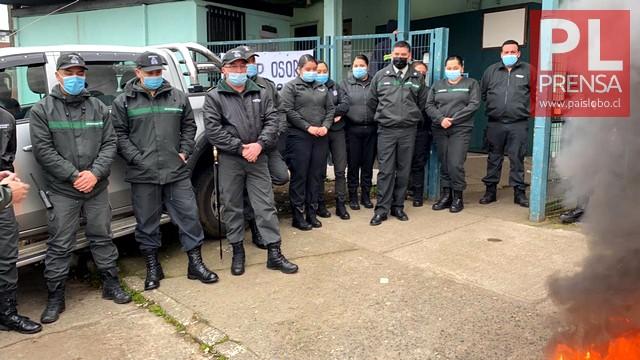 Manifestación de funcionarios de Gendarmería en Osorno