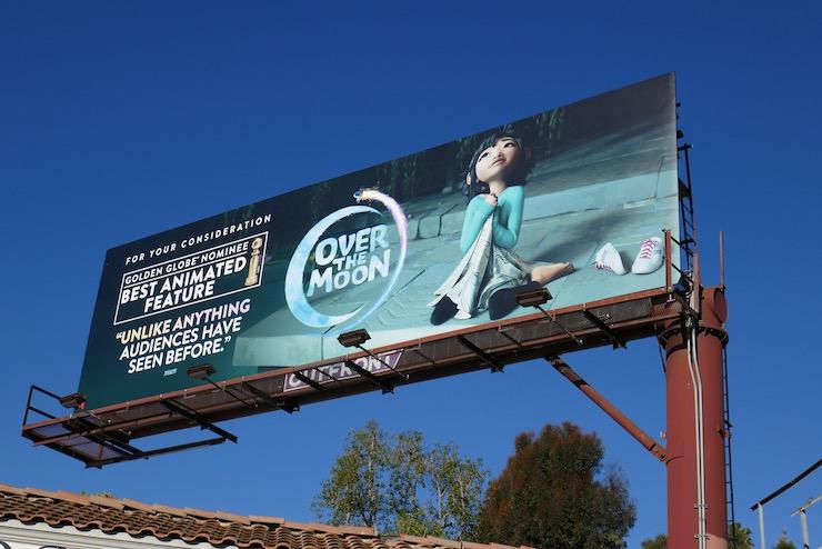 Over the Moon Golden Globe nominee billboard
