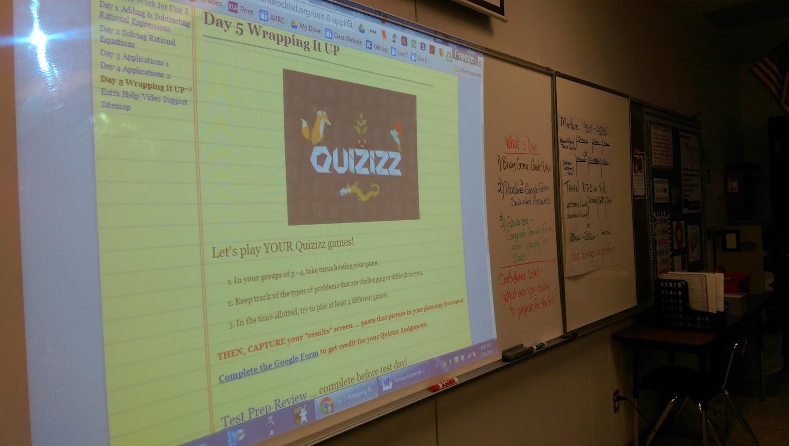 Algebra's Friend: They created their own Quizizz!