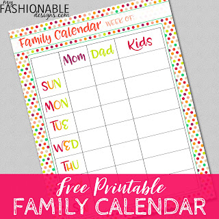 image about Printable Family Calendar named My Modern-day Programs: Spouse and children Calendar - Absolutely free Printable