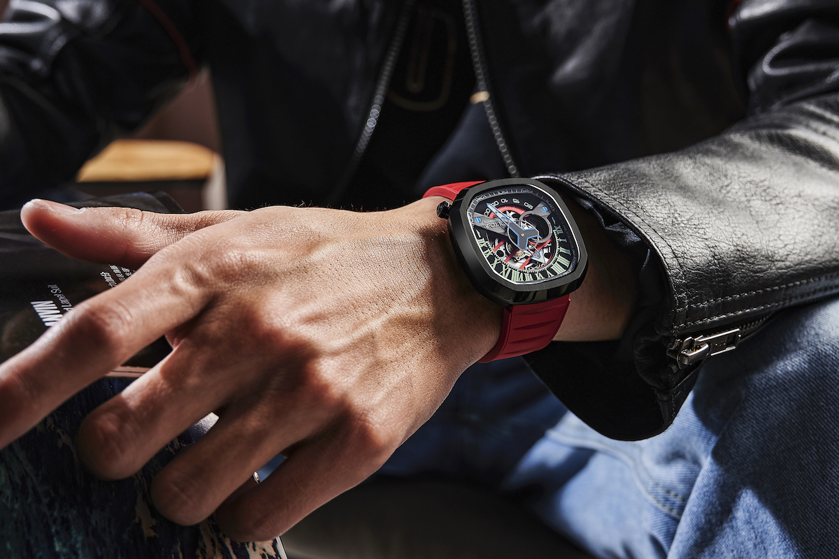 Motorsports inspired mechanical watch makes a bold statement
