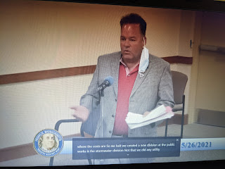 DPW Director Cantoreggi answers a question