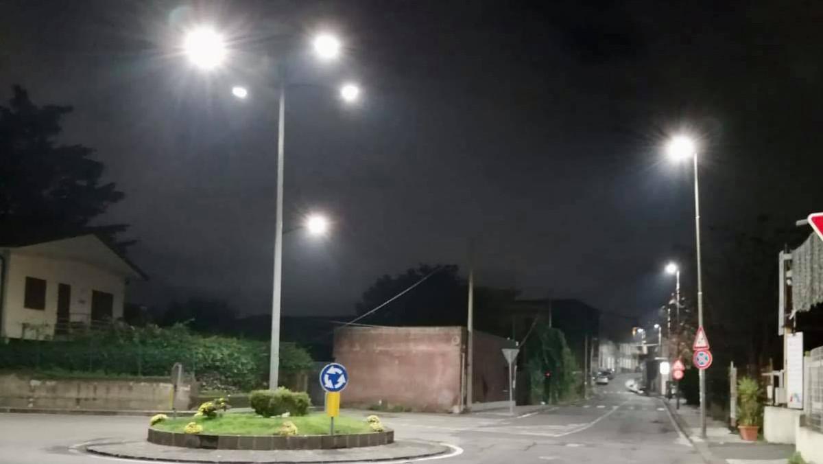 Illuminazione nuova a San Giovanni la Punta