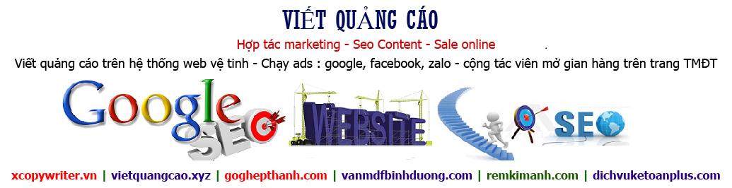 Hợp tác viết quảng cáo, marketing, copywriter, seo content