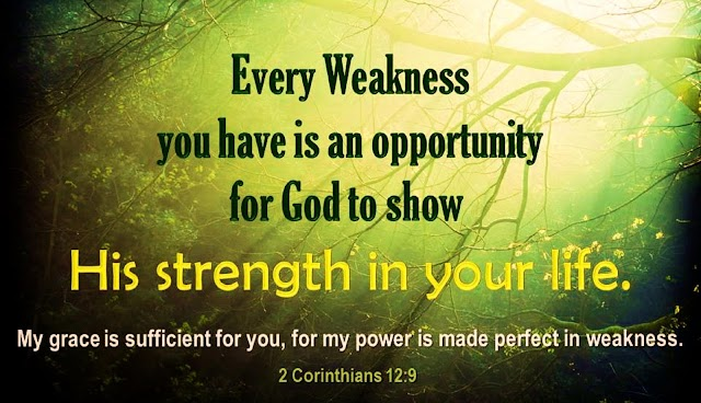 Strenth in Weakness Encouraging Inspirational Bible Quotes