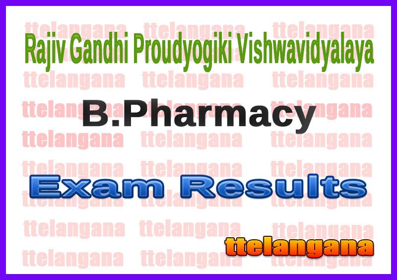 Rajiv Gandhi Proudyogiki Vishwavidyalaya B.Pharmacy 1st 2nd 3rd 4th 5th 6th 7th 8th Semester  Exam Result