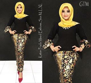 model baju setelan batik embos