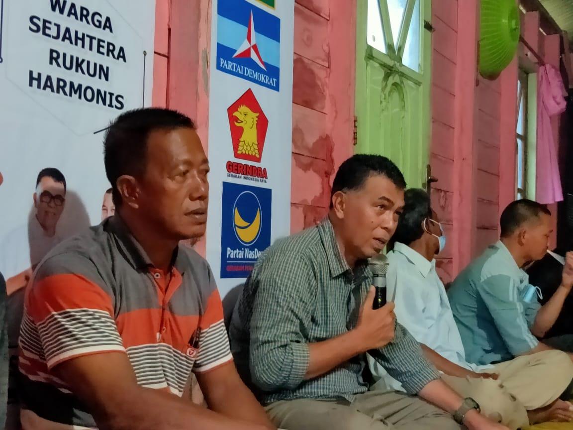 Wan Siswandi  Lakukan Kampanye di Desa Telok Buton