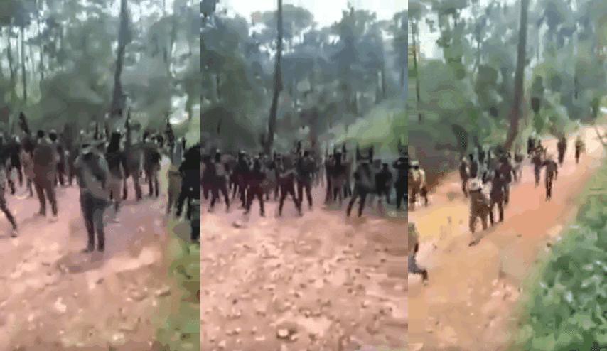 """Convoy de sicarios de """"Guardia Guerrerense"""" armados hasta los diente y listos """"pal topon"""", anuncian su llegada y amenazan a la contra"""