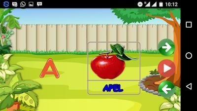 Belajar menghafal huruf abjad