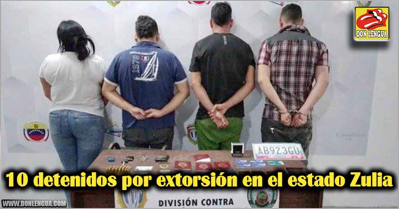 10 detenidos por extorsión en el estado Zulia