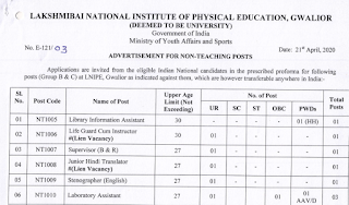LNIPE Previous Question Papers – Non Teaching and Teaching