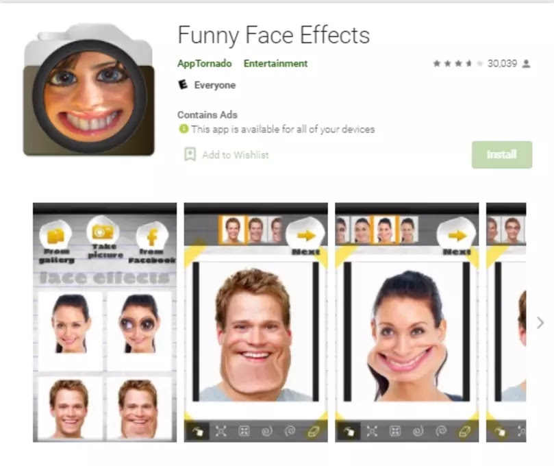 funny face effects app