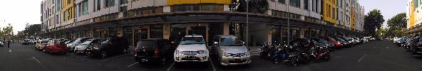 Hasil foto mode panorama