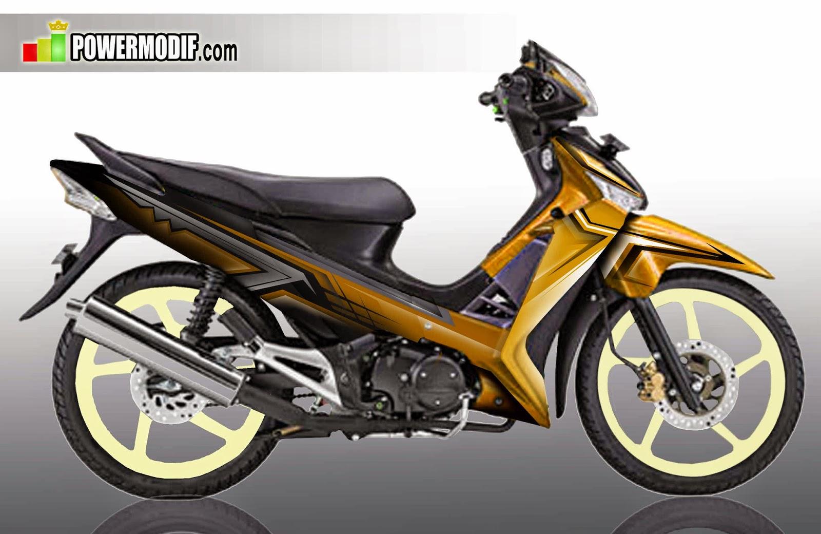 70 Modifikasi Airbrush Motor Supra X 125 Terlengkap Klobot