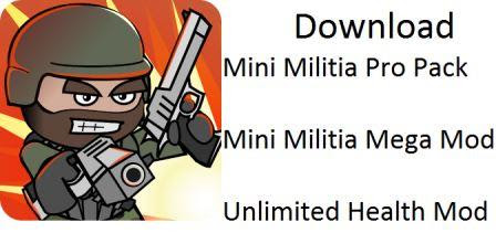 Mini Militia Pro Pack Mod Apk Updated Version 2.2.86 (Latest)