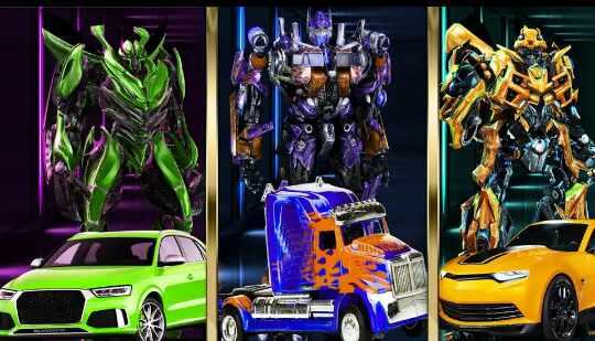 Game Grand Robot Car Transform 3D Game