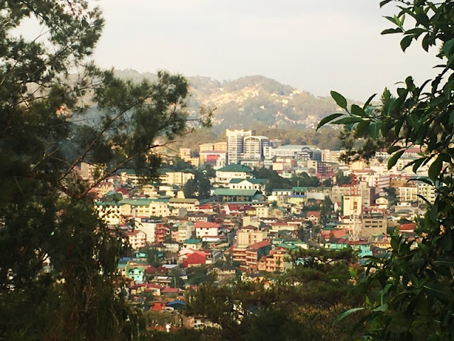 Baguio City View - You get a good glimpse of Baguio City from Our Lady of Lourdes Grotto