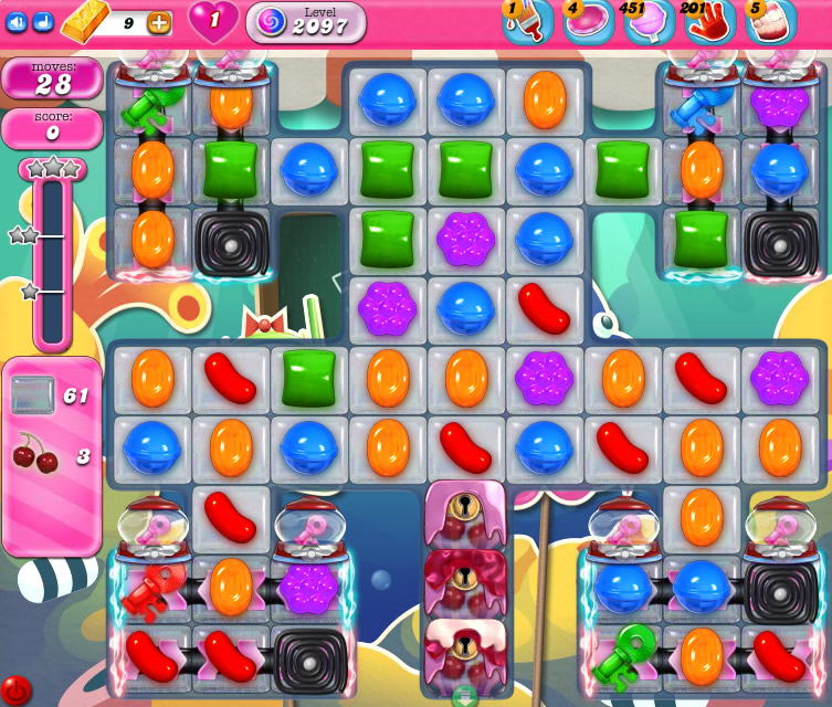Candy Crush Saga level 2097