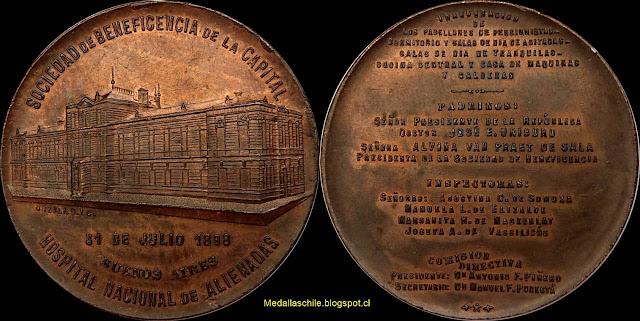 Medalla Hospital Alienadas (Buenos Aires)