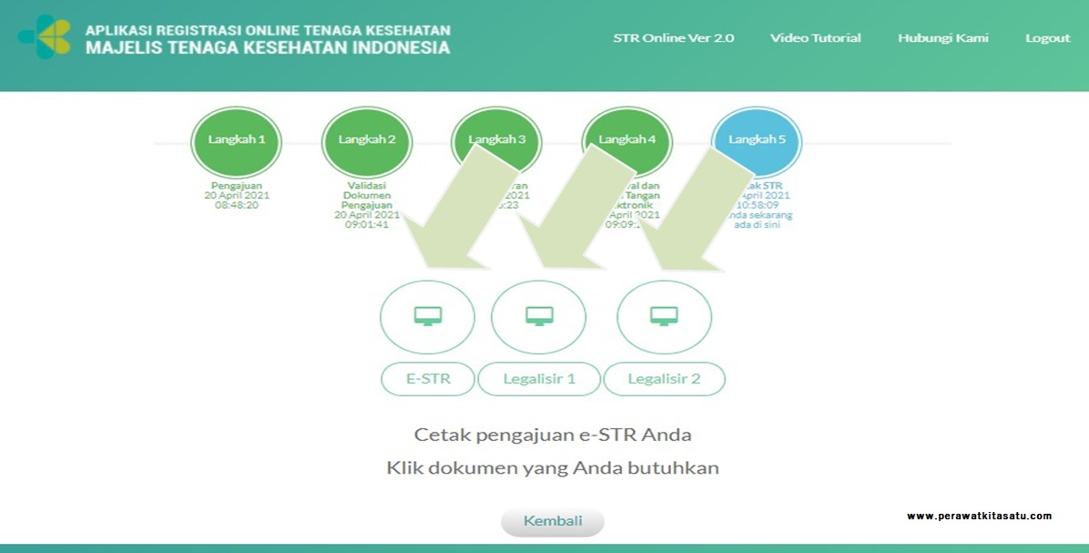 cetak STR dan legalisir STR