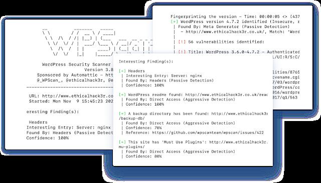WPScan Wordpress vulnerabilities
