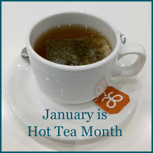 Enjoying a cup of hot tea as January is hot tea month