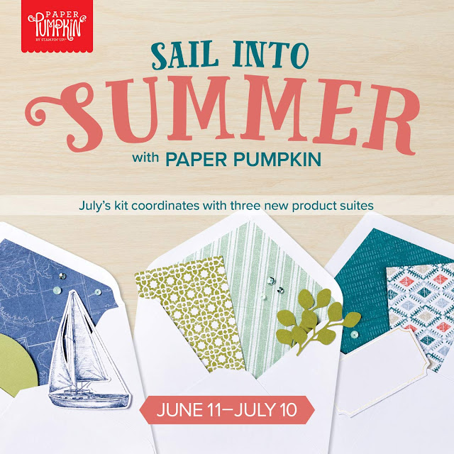 Sail into summer with Stampin' Up!'s Paper Pumpkin July kit