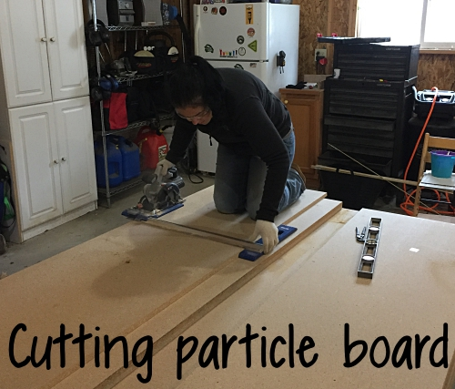 cutting particle board for countertops