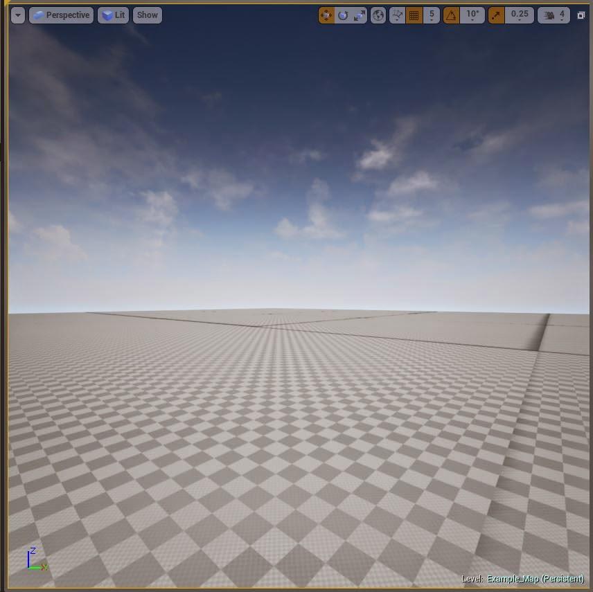 3D viewport.