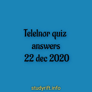 Telenor quiz answers 22 December 2020