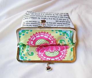 image pride and prejudice purse kisslock frame jane austen mr darcy proposal domum vindemia for sale book page in vain have i struggled michael miller fabric inner lavinia damask floral yellow pink green