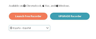 para iniciar la grabación de pantalla con el launcher solo debes dar clic en free recorder