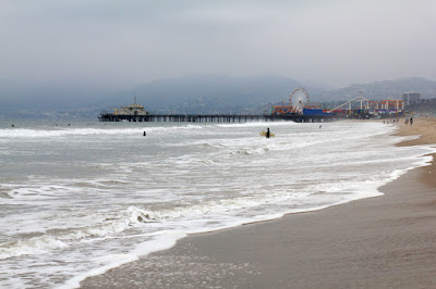 Santa Moinca Beach and Pier in May