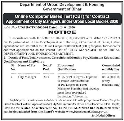Bihar Recruitment 2020