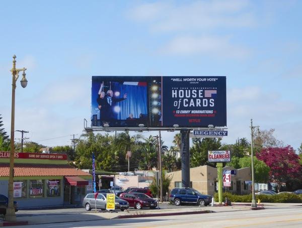 House of Cards season 4 Emmy nom billboard