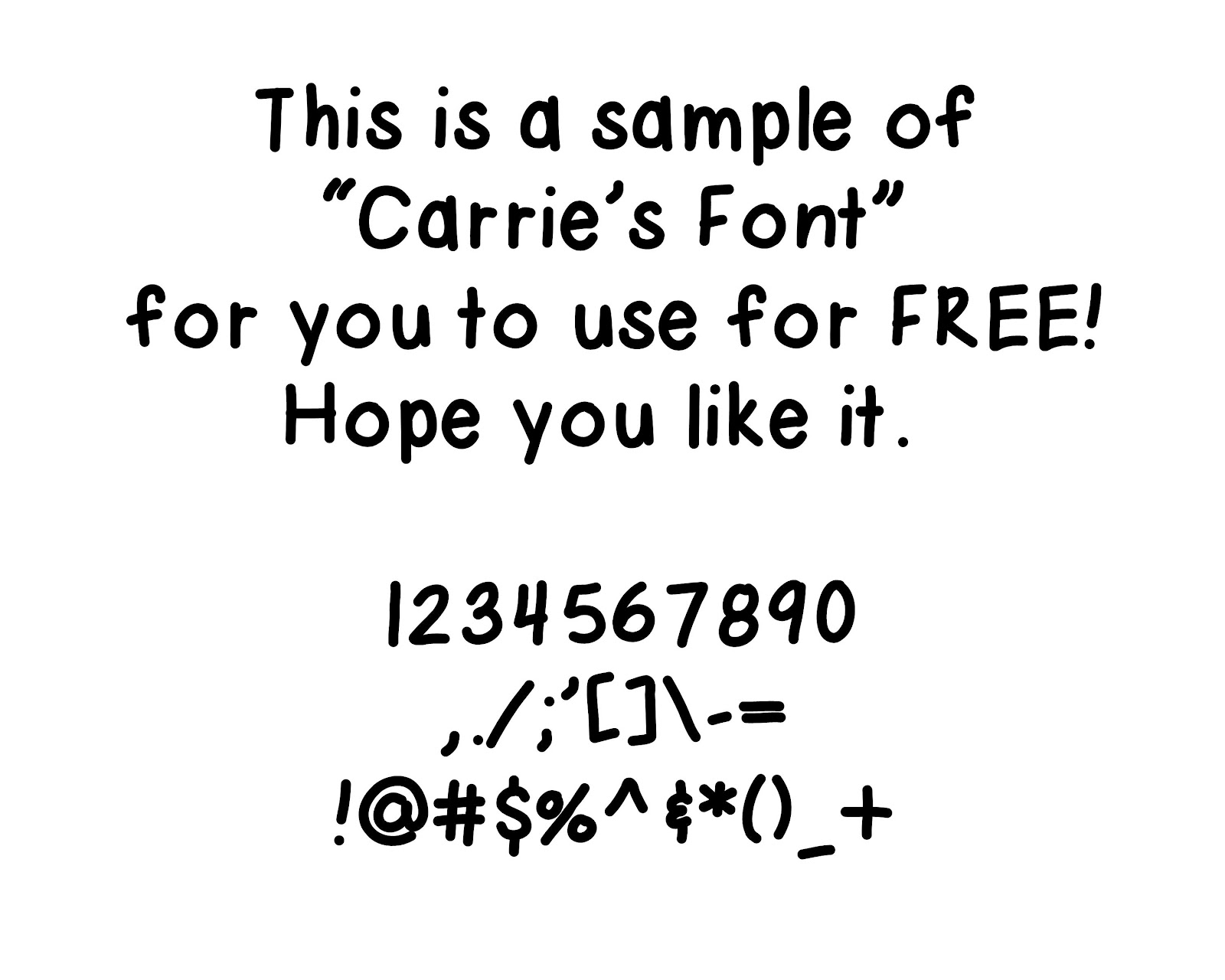 Clip Art By Carrie Teaching First Freebie Carrie S Font