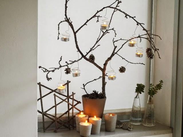 Rboles de navidad con ramas secas desde jalisco - Arboles secos decorados ...