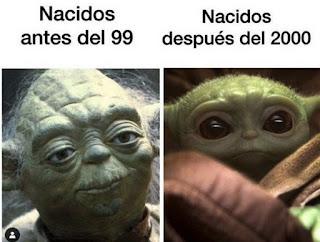 Baby yoda nacidos antes del 99 y después del 2000
