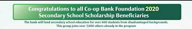 Co-opbank Secondary School Scholarships beneficiaries 2020