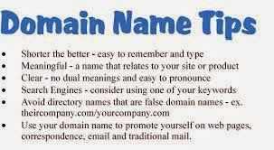 Choosing Domain Name Tips