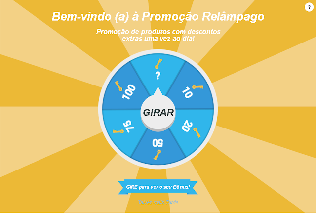 Roleta virtual do site Wish