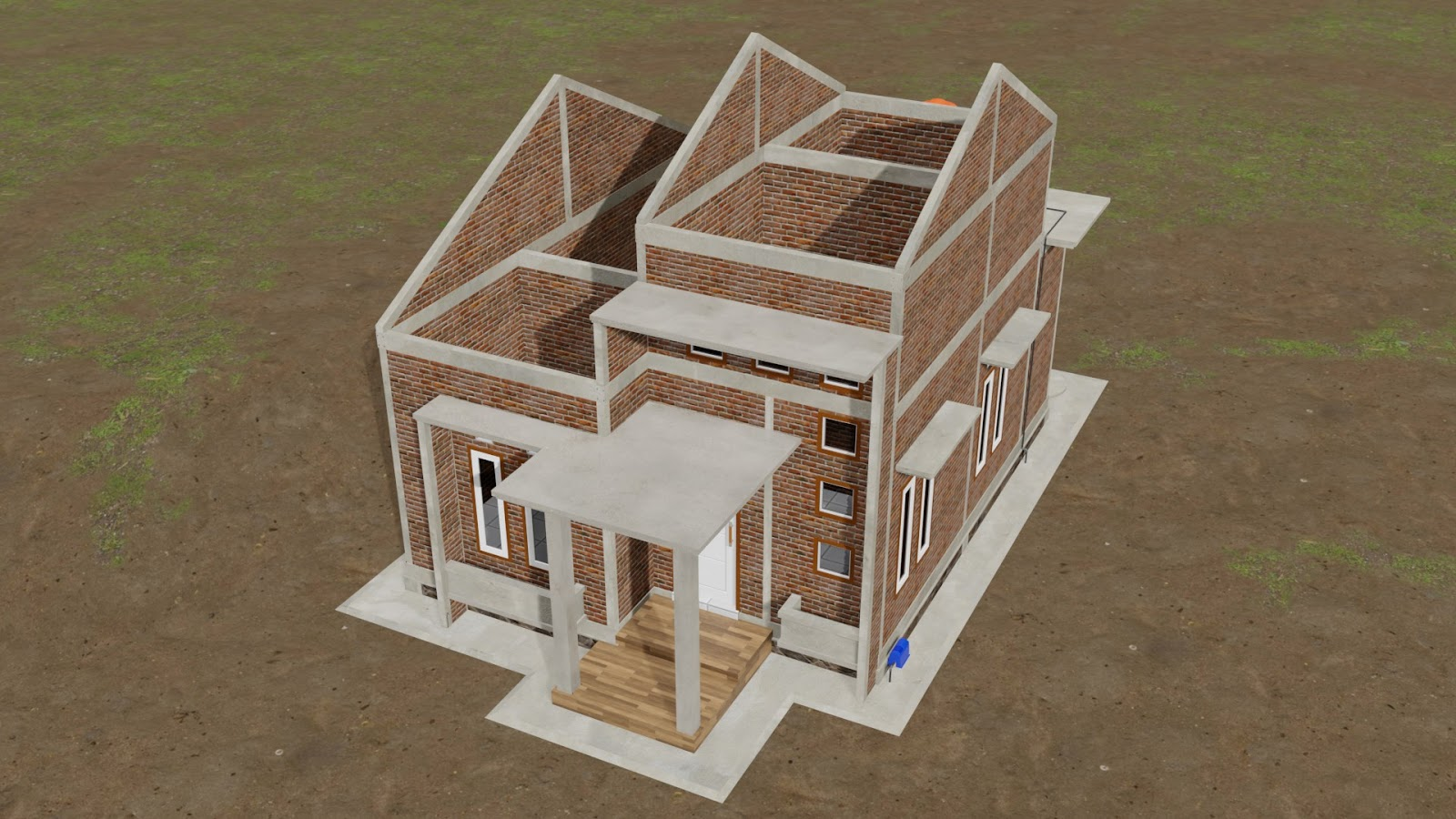 Desain Rumah Minimalis 57 M2 - 2 Kamar + KONSTRUKSI